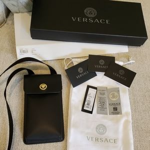 Brand new Gianni Versace leather phone purse